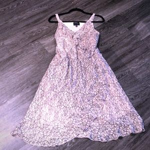 NEW Pink Black Lace Dress Flower Easter size 14